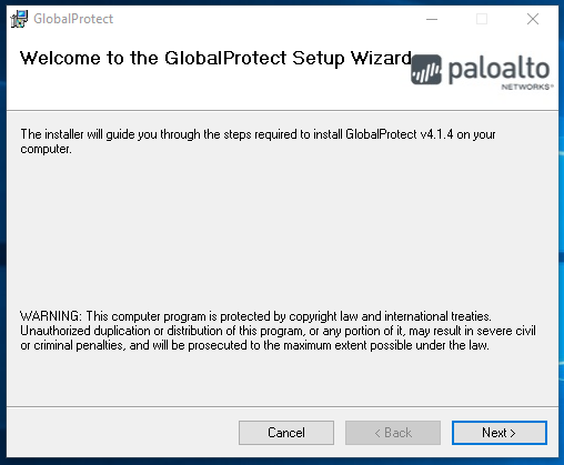 Globalprotect Change Password