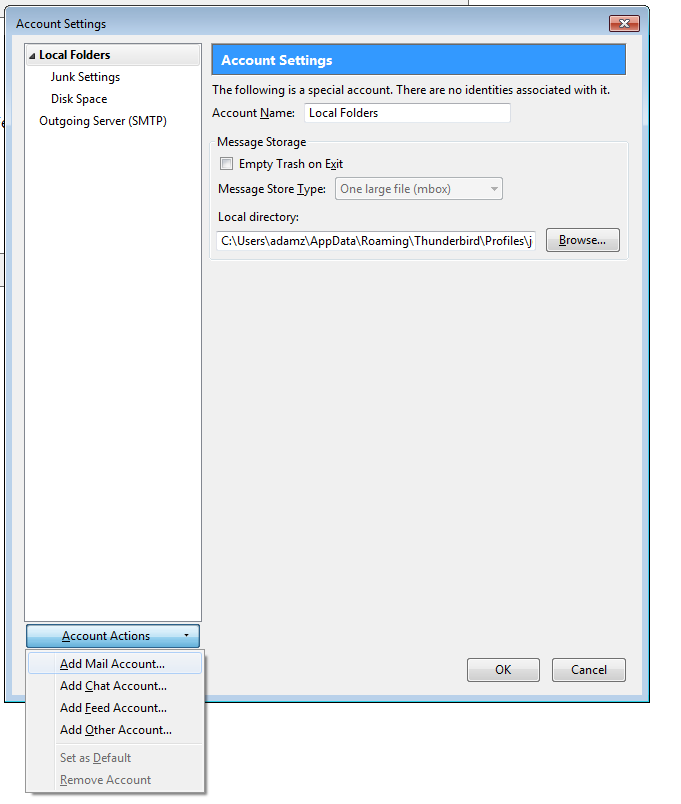 IT - How do I add my bMail account to Thunderbird?